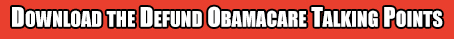 obamacare taling points button
